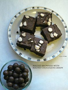 Malted Brownies with Malted Chocolate Candy