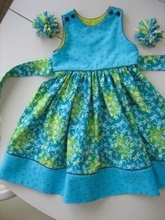 just a picture, so cute! Dragonfly Dress by mamacjt. love the color combo Toddler Dress, Toddler Outfits, Baby Dress, Kids Outfits, Little Girl Outfits, Little Dresses, Little Girl Dresses, Girls Dresses, Sewing Clothes