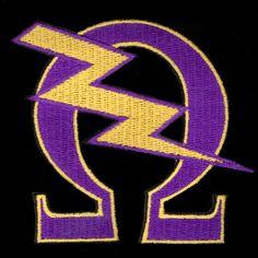 "Omega Psi Phi 10 1/2"" Greek Image Emblem #Sonsofbloodandthunder"