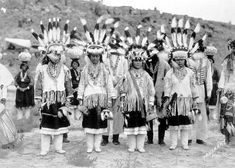 "Zuni women, New Mexico, between 1900 and 1910. Zuni of New Mexico called the Pleiades, ""seed stars"" because when they were visible it was a signal for seed-planting season."