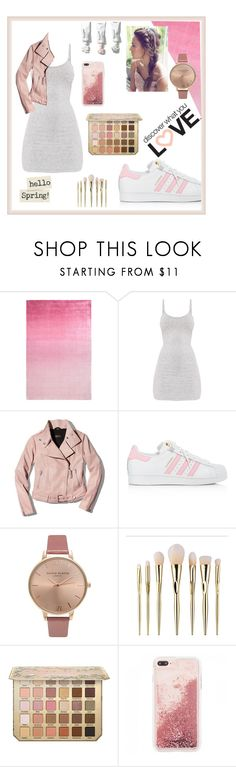 """""""Discover what you love"""" by rain-byrne ❤ liked on Polyvore featuring Designers Guild, Mackage, adidas and Olivia Burton"""