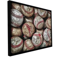 'Baseballs' by David Liam Kyle Framed Photographic Print Gallery-Wrapped on Canvas