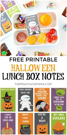 Cute Halloween Lunch Box Notes {Free Printable} The PennyWiseMama Cute Halloween Lunch Box Notes {Free Printable} Halloween Lunch Box Notes – Free Halloween Printables Fun Packed Lunch Ideas, Halloween Activities For Kids, Lunch Box Notes, Healthy Lunches For Kids, Lunch Box Recipes, Notes Free, Diys, Free Printable, Halloween Labels