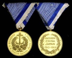 Sea Voyage Medal 1910-12 as awarded to the Officers and Men of S.M.S. Franz Joseph I.