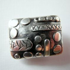Rectangle Sterling Silver Bead by PottyMouthGems