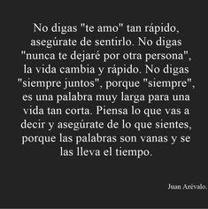 Muy cierto Amor Quotes, Sad Quotes, Love Quotes, Cute Phrases, Quotes En Espanol, Relationship Advice, Beautiful Words, Quotations, Nostalgia