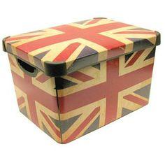 Curver 22L Union Jack Art Deco Box