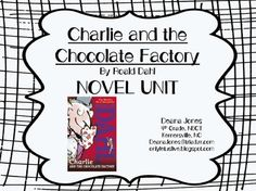 Charlie and the Chocolate Factory by Roald Dahl. easy-to-use, everything you need to teach this novel on a deeper level, Common Core aligned Charlie Chocolate Factory, Roald Dahl, Teacher Pay Teachers, Core, Novels, The Unit, Teaching, Writing, Easy