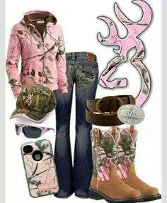 Browning in Pink Camo! There could be more camo than pink. Cute Country Outfits, Country Girl Style, Country Fashion, My Style, Country Life, Southern Style, Country Wear, Southern Charm, Southern Girls