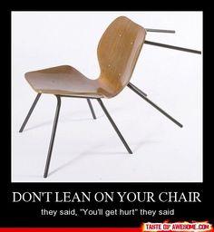 Falling chair fail !