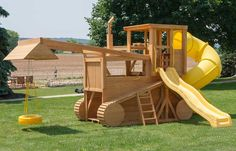 The Amish Made ft. Dream Fort Playground Set is truly a dream come true for any little child. Imagine the memories that can be made playing in this Dream Fort. Each playground set is handcrafted by skilled Amish woodworkers. These playground sets Kids Outdoor Play, Kids Play Area, Backyard For Kids, Outdoor Fun, Playground Set, Backyard Playground, Pallet Playground, Build A Playhouse, Play Houses