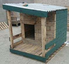 pet house made with pallets - Google Search