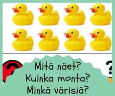 Matikka muodot varit Rubber Duck, Preschool, Language, Education, Toys, Activity Toys, Toy, Nursery Rhymes, Teaching
