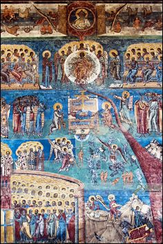 Romania Voroneț Monastery | The Last Judgment details | Flickr - Photo Sharing! The Last Judgment, Visit Romania, Biblical Hebrew, 12 Tribes Of Israel, Historical Artifacts, Mandala, Orthodox Icons, Medieval Art, Religious Art