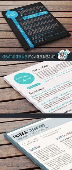 Creative resumes from resumebaker.com