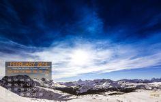 Sunshine Village, Banff Canada - Desktop Calendar / Wallpaper – February 2014
