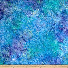 """Timeless Treasures 106"""" Batik Ethnic Paisley Jewel from @fabricdotcom  From Timeless Treasures, this cotton print batik fabric is perfect for backing quilts, lightweight curtains, dust ruffles, apparel, and more! Colors include shades of blue, teal, and purple."""