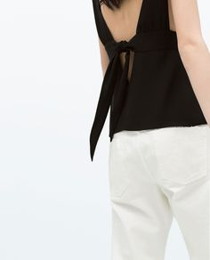 Image 3 of TOP WITH BOW AT THE BACK from Zara