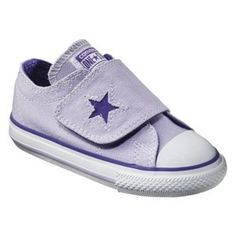 Toddler Girl's Converse� One Star� One Strap Sneaker - Purple