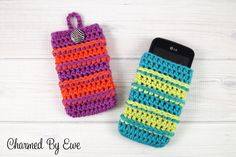 Free Crochet Pattern: Punky's Cell Phone Cozy by Charmed By Ewe