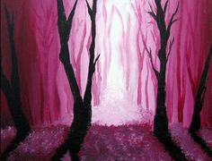 Moonlit Landscape Painting. 8th grade: Tints and Shades