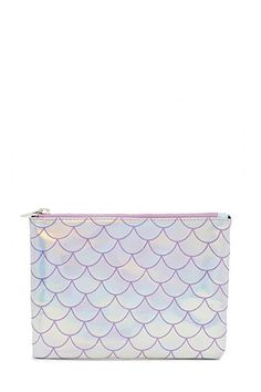 Holographic Mermaid Scale Clutch