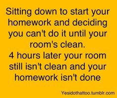 And this is the problem with my study habits.