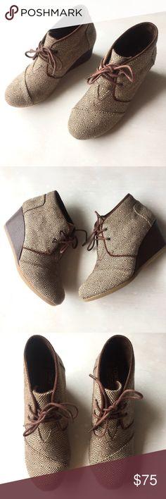 Toms desert wedge boot brown tweed (New) 7.5 Toms desert wedge boot brown tweed (New) 7.5 TOMS Shoes Ankle Boots & Booties