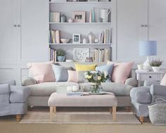 Living Room Paint Pastel - Beautiful Living Room with Colorful Pastel Color Style. Pastel Living Room, Living Room Colors, Living Room Paint, Living Room Sofa, Apartment Living, Living Room Designs, Living Room Decor, Living Pequeños, Living Room On A Budget