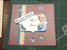 Startet by making my Xmass cards #frozen theme#