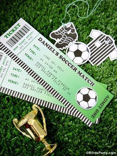 Soccer Birthday Party invitations!  See more party ideas at CatchMyParty.com!