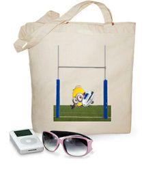 Bolsa Minion Try #camisetas #rugby #minions http://www.latostadora.com/emcmasquecamisetas