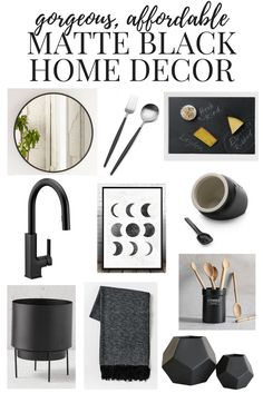 Every room needs a little bit of black! It adds drama, dimension, and a lot of elegance to any room in your home. Here's a great roundup of gorgeous, inspiring, and affordable matte black home decor. (Sponsored)