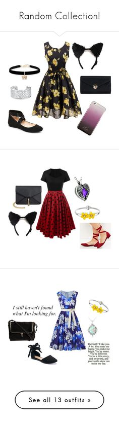 """""""Random Collection!"""" by kbelle28 ❤ liked on Polyvore featuring Betsey Johnson, Jessica Simpson, Bling Jewelry, Kate Spade, New Look, Olivia Miller, Studio 8, Apt. 9, Glitzy Rocks and Converse"""