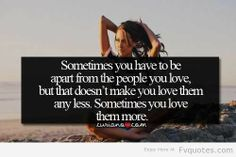 Stay apart SOMETIMES... #Love #quote #life