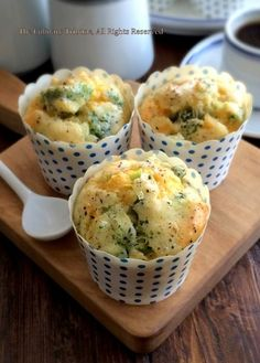 The Culinary Tribune › Broccoli Cheddar Muffins ブロッコリーチェダーケークサレ Savory Cupcakes, Savory Muffins, Healthy Muffins, Appetizer Recipes, Appetizers, Brunch Recipes, Baby Recipes, Broccoli Cheddar, Snacks