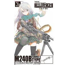 Tomytec Little Armory LA002 M240B Plastic Model Kit Figma Size Japan