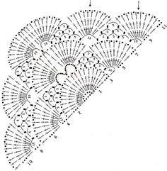 'Tita Carre' Tita Carré - Needle and Knitting: Shawl crochet chart Crochet Shawl Diagram, Crochet Wrap Pattern, Crochet Chart, Crochet Motif, Diy Crochet, Crochet Stitches, Crochet Patterns, Knitting Patterns, Crochet Shawls And Wraps