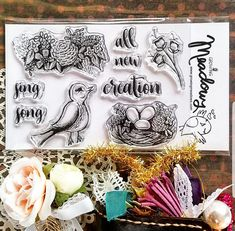 Growing Meadows Stamps for Bible Journaling! Hey, I found this really awesome Etsy listing at https://www.etsy.com/listing/558916394/all-creation-sing-stamp-set-clear-bird