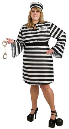 halloween womens plussize prisoner costumes convict for her