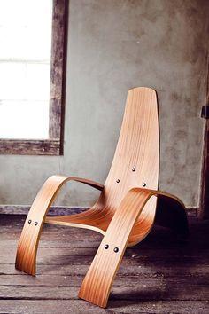 Bent Plywood Lounge Chair,  Nicole Hodsdon