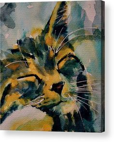 Cat Acrylic Print featuring the painting Weeeeeee Sleepee by Paul Lovering