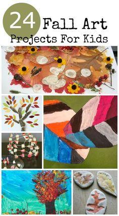 24 Amazing Fall art projects for kids • Artchoo.com