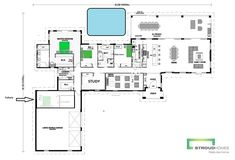 Home Design Floor Plans, House Plans, New Homes, House Design, Flooring, How To Plan, Architecture, The Originals, Dibujo