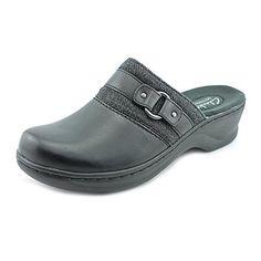 574782d68 Clarks Lexi Lilac Womens Size 11 Black Leather Clogs Shoes Shoes Uk