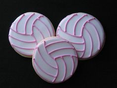 volleyball cookies; totally making these for the team this season! <:D