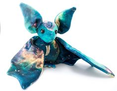 Galaxy Bat Stuffed Animal, Plush Toy, All Galaxy Minky Bat, Bat Plushie