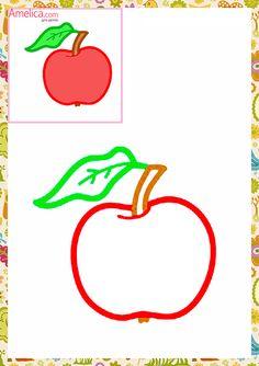 Раскраски малышам распечатать бесплатно, красивые первые раскраски с цветным контуром и образцами для детей 1, 2, 3 года Sequencing Activities, Kids Learning Activities, Color Activities, Drawing Lessons For Kids, Art Drawings For Kids, Preschool Writing, Teaching Kindergarten, Cool Coloring Pages, Coloring Pages For Kids