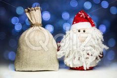 Qdiz Stock Photos | Santa Claus or Father Frost and sack,  #background #bag #beard #burlap #celebration #Christmas #Claus #Clause #closeup #decoration #doll #eve #Father #figure #frost #full #fun #funny #gift #greeting #holiday #light #little #Merry #new #object #pouch #present #red #sack #Santa #small #surprise #textile #toy #traditional #white #x-mas #xmas #year