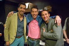 Hanging with #BroVsBro guest-judges @davidbromstad and @joshtemple :) #TeamDrew